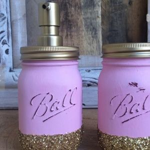 Other - Pink Glitter Bathroom Set